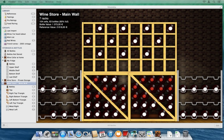 <b>The Wall Builder</b><br>You can now materialize your cellar as different walls and place all your racks next to each other <br>to recreate virtually in the application how your walls <b>REALLY</b> appear. <br>It's quick, easy and totally innovative!!