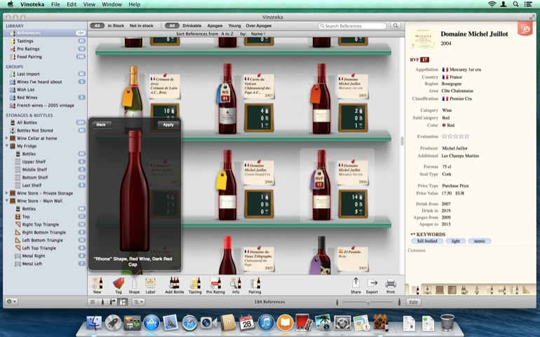 Choose among lots of many new bottles shapes to illustrate your references