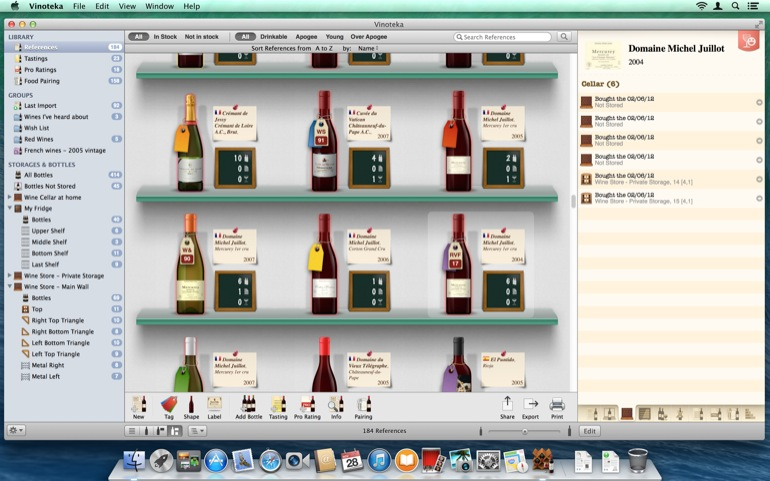 For each reference, have a look at its complete related information (bottles, stats, tasting notes, etc.)