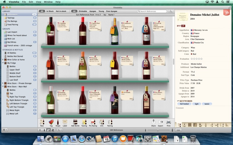 In the Reference section, decide to see your references as real bottles on several backgrounds with various details or not